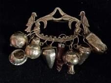 Vintage Peru Silver Tupu Tupo Shawl Charm Pin