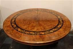 Victorian Walnut & Marquetry Inlaid Round Table