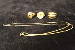 Gold Plated Sterling Rings & Chain