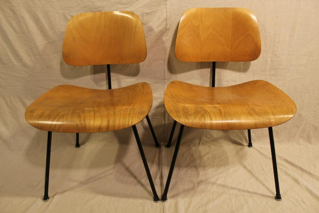 Herman Miller Eames Lounge Shell Chair Mid Century Vintage Furniture Foil Label