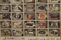Carl T Chew b 1948 Seattle Stamp Panel