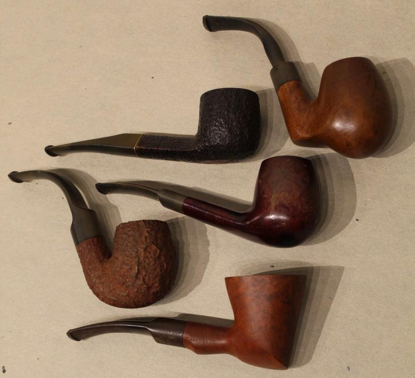 Mixed Lot of Five Vintage Italian Tobacco Pipes