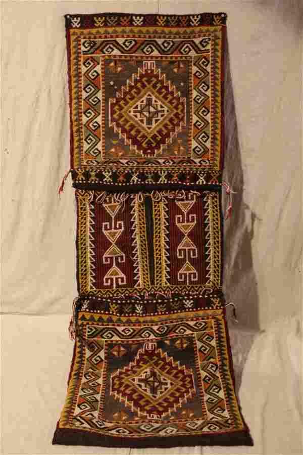 Hand Stiched Wool Kilim Saddle Bag