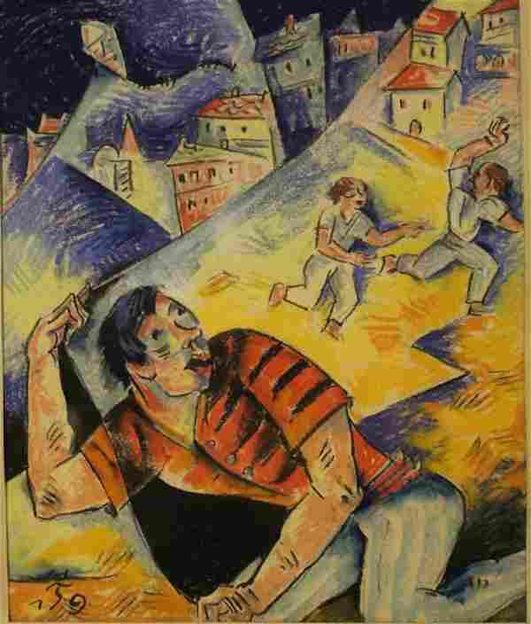 Oskar Treichel (b. 1890) German Expressionist Art