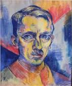 Oskar Treichel German Expressionist Self Portrait