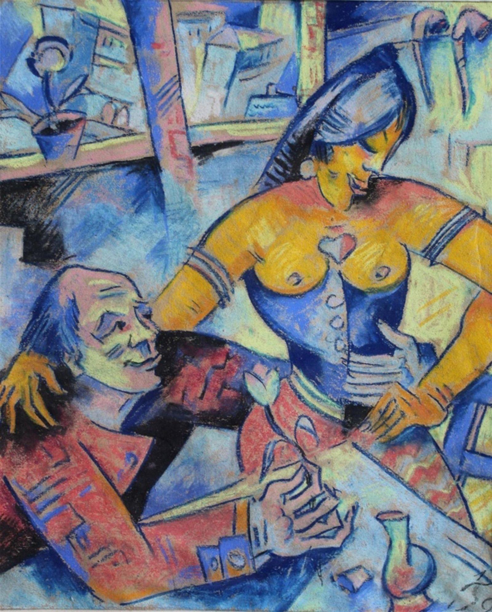 Oskar Treichel German Expressionist Pastel