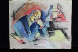Oskar Treichel German Expressionist Portrait