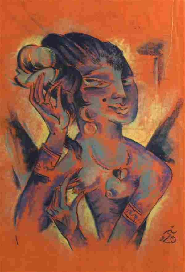 Oscar Treichel German Expressionist Pastel