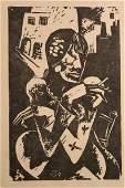 Oscar Treichel German Expressionist Lino Cut