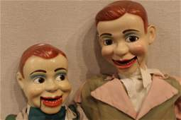 Two Vintage Jerry Mahoney Ventriloquist Dummies