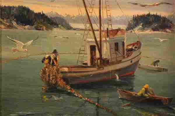 Harvey Goodale (1900 - 1980) Oil on Canvas