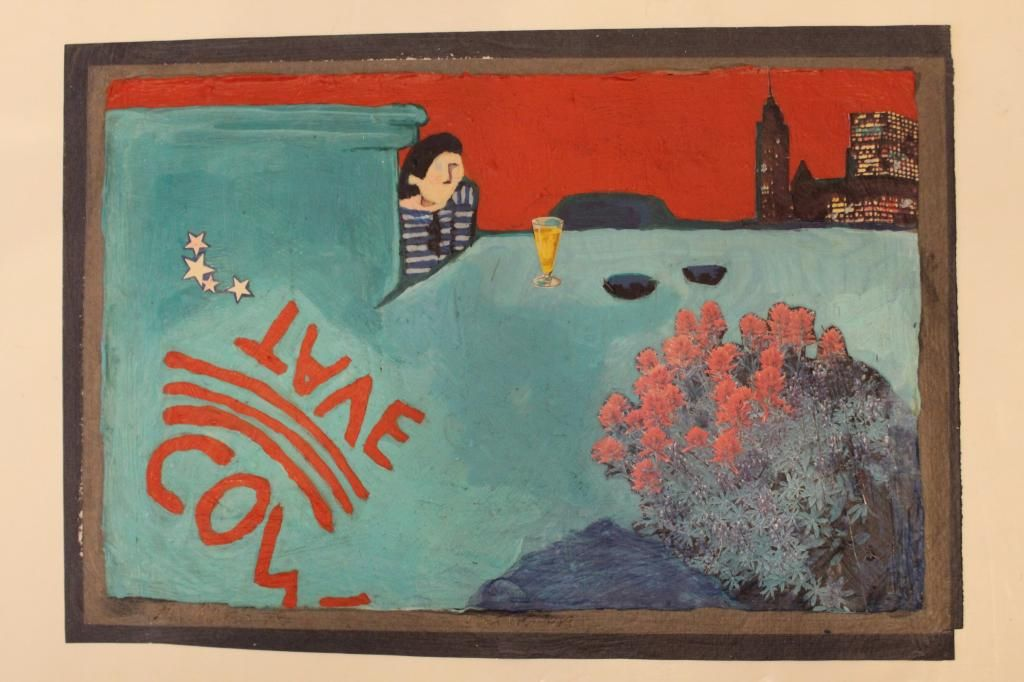 1970s Artist Signed Mixed Media Collage