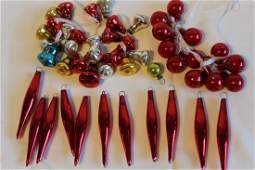 Vintage Glass Christams Tree Ornaments