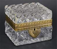 Antique Baccarat Style French Cut Crystal Box
