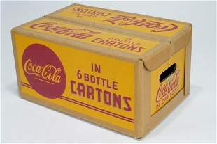 1940s COCA-COLA Waxed Cardboard Carrier Case
