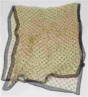 Louis Vuitton Inventeur Silk Scarf