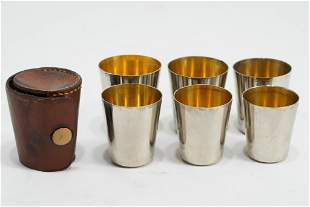 Nesting Shot Glass & Leather Case Set
