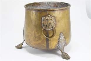 Antique Imperial Russian Brass Jardiniere