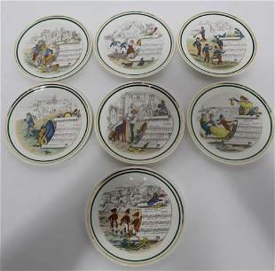 Vintage French Parry Vielle PV Music Opera Plates