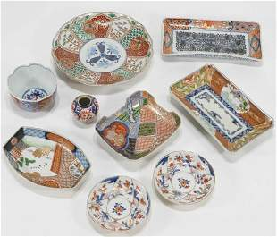 Vintage Japanese Brocade Imari Porcelain Items