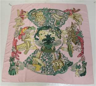 Hermes Chapeau Silk Scarf