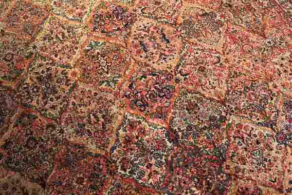 Vintage Wool Karastan Kirman Rug