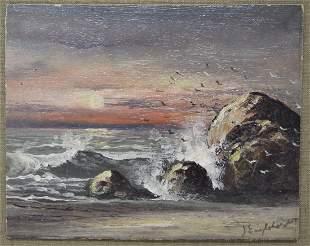 John Englehart (1867-1915) Beach Painting