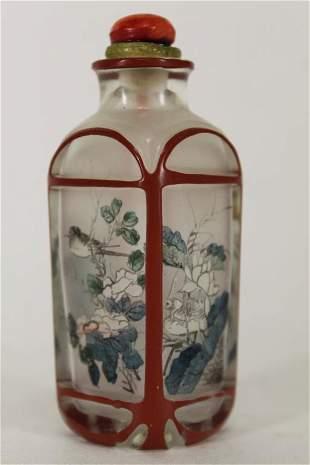 Chinese Inside Painted Quartz Snuff Bottle