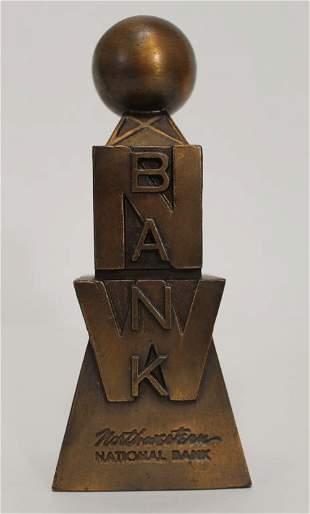 Vintage Banthrico Souvenir Building Coin Bank