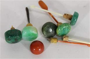 Chinese Snuff Bottle Stopper Lids & Spoons