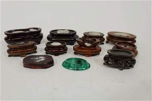 Vintage Chinese Rosewood Snuff Bottle Stands