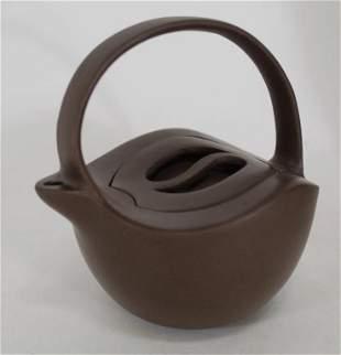 Small Chinese Yixing Zisha Red Clay Teapot