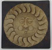 Vintage John Wenzel Studio Art Pottery Sun Tile