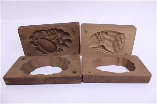 Antique Japanese Wood Kashigata Cake Molds