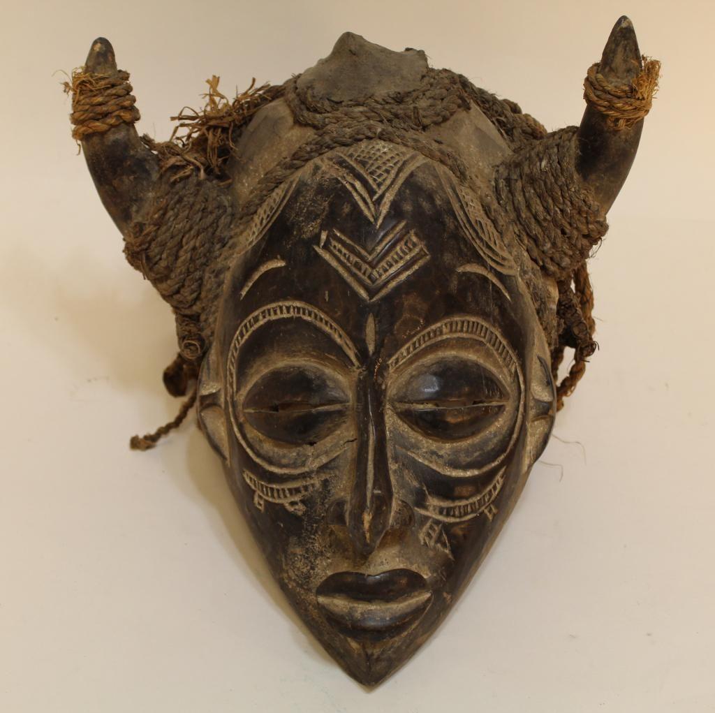 Vintage African Chokwe Helmet Mask