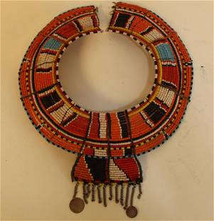 Beaded Maasai African Tribal Choker Collar