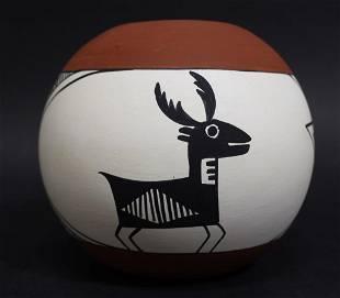Signed C Chino Acoma Pottery Vase