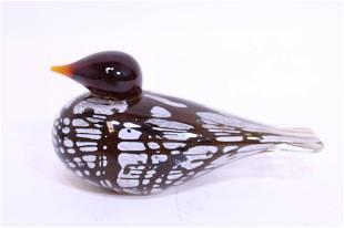 Oiva Toikka Style Art Glass Bird