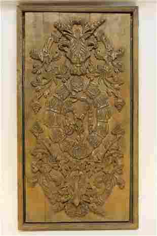 Restoration Hardware Rococo Carved Wood Panel