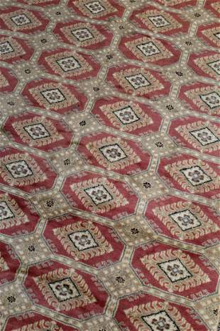 Hand-Knotted Bokhara Rug