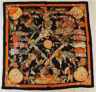 Hermes Les Danses Des Indiens Scarf Shawl