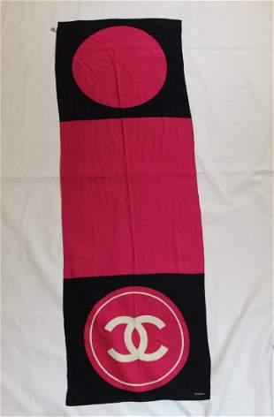 Chanel Long Silk Scarf