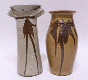 Charles Bigger Northwest Studio Pottery Vases