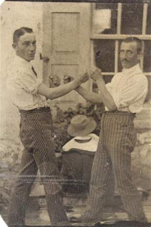 Antique Tintype Photographs of Affectionate Men