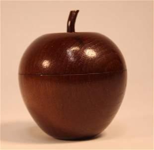 Vintage Apple Form Treen Wood Box