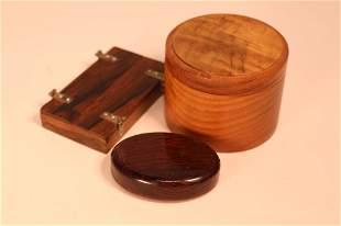 Vintage Teak & Rosewood Boxes