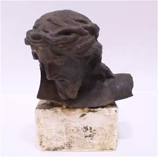 Antique Cast Iron Statue Fragment