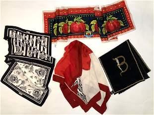 Erte Maud Frizon Escada Critchfield Silk Scarves