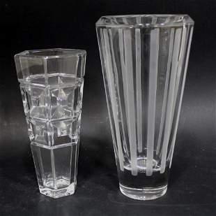 Vera Wang & Rosenthal Crystal Vases