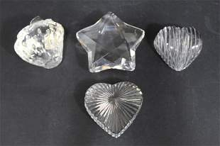 Crystal Paperweights Waterford Gucci Rosenthal